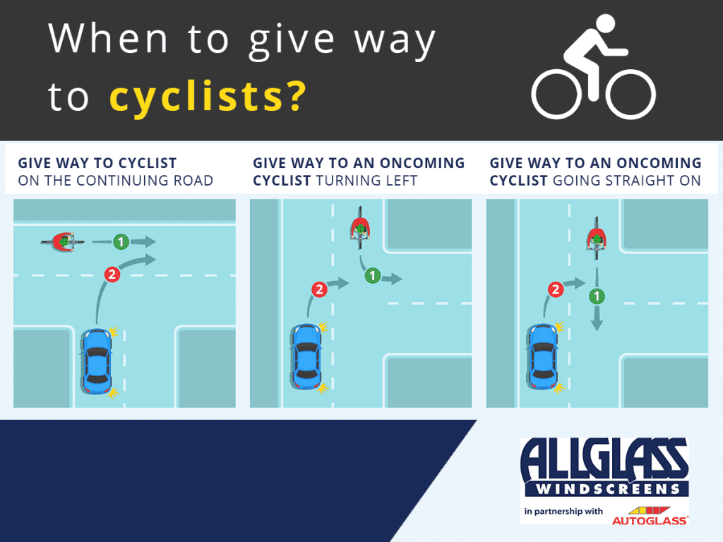 Summer Driving Giving way to cyclists